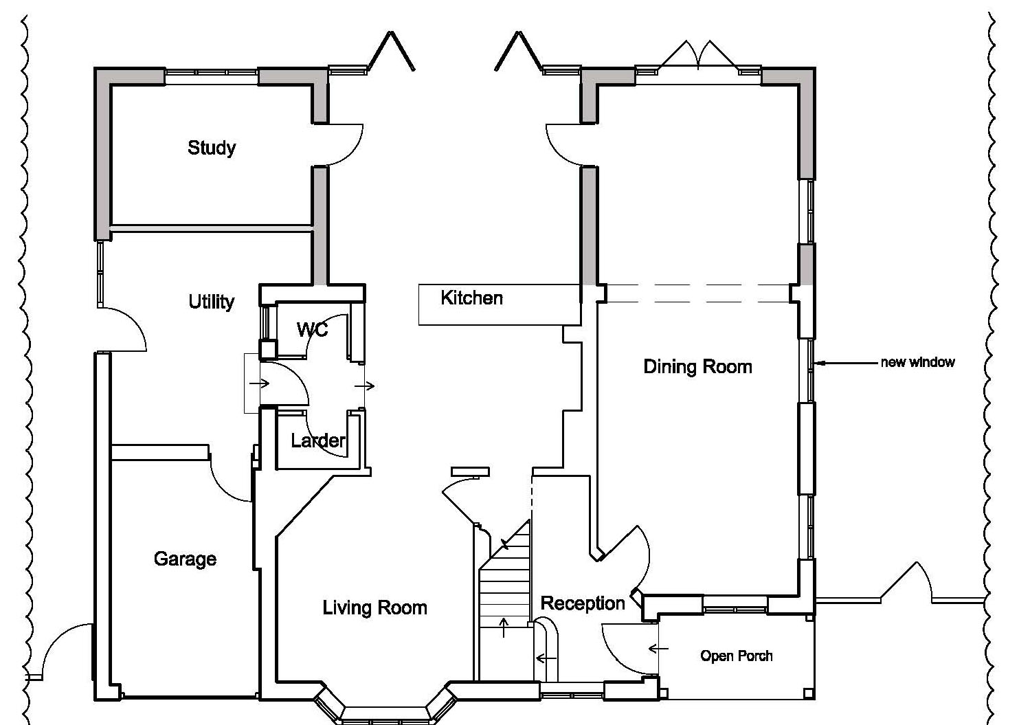 As Proposed Floor Plan by CPA Design