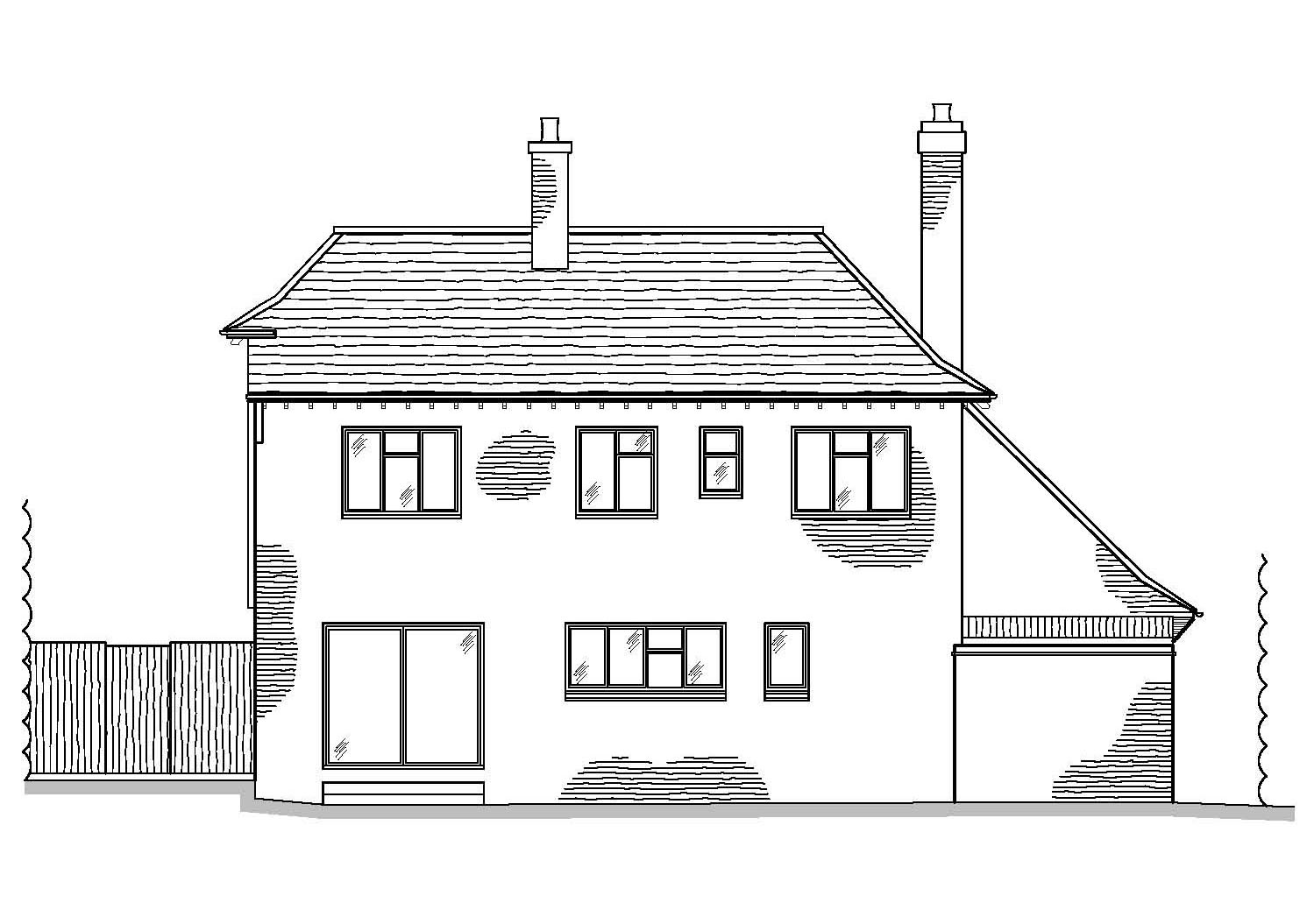 As Existing Rear Elevation by CPA Design