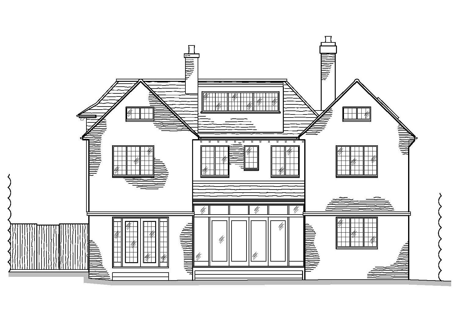 As Proposed Rear Elevation by CPA Design