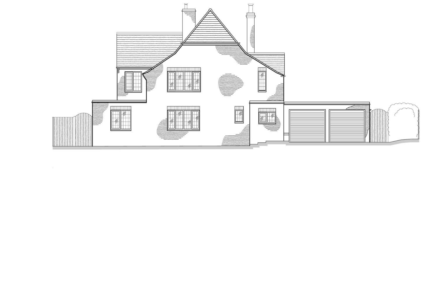 Building Elevations By CPA Design Existing Front Elevation