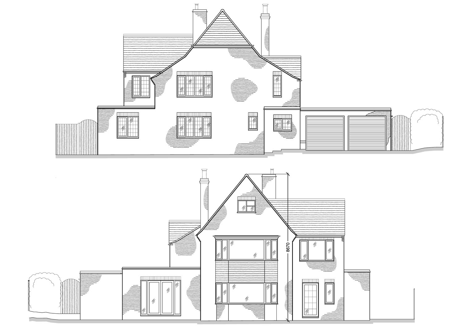 Extension Design By CPA Design Both Existing Front Elevation