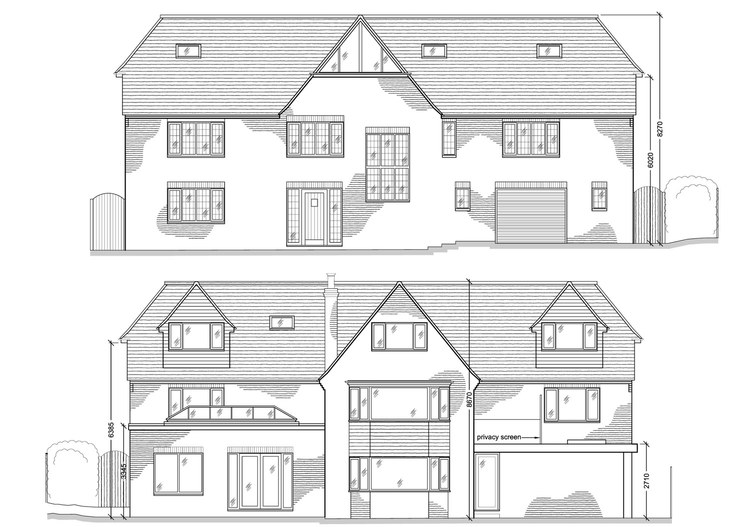 Extension Design By CPA Design Proposed Front and Rear Elevation