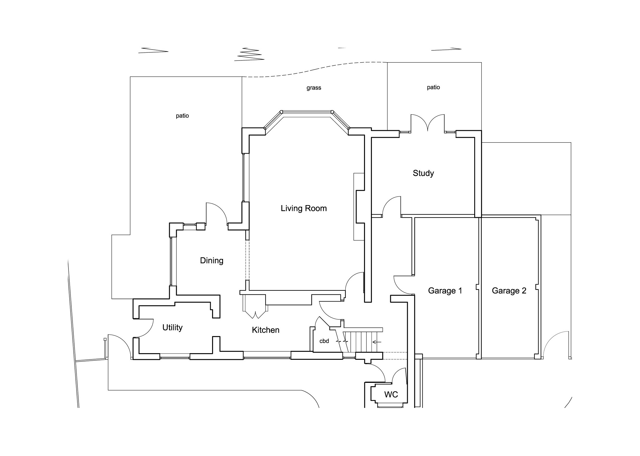 Architectural Design By CPA Design Existing Ground Floor Plan