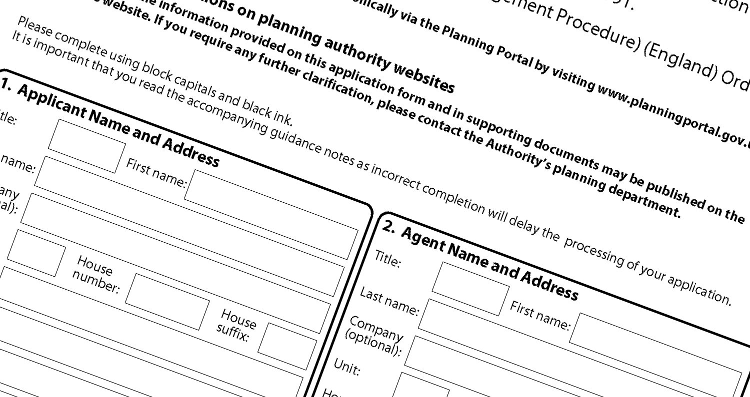 Planning Application Form CPA Design
